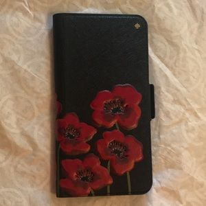 Kate Spade leather folio iPhone 7/8 plus cover